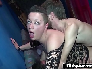 Big Clit of the Italian Milf! 2 Whores in naff orgy!
