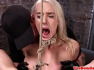 Tied nearly bondage cosset pussy get it coupled with toyed