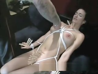 Busty brunette hottie gets spanked hard by a really roasting stallion