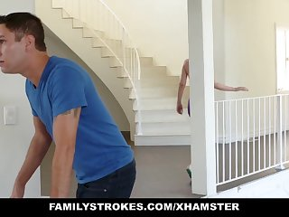 FamilyStrokes - Sexy Housewife Fucks Stepson