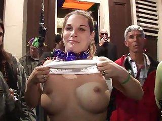 Mardi Gras Party Girls Flashing in Public - SpringbreakLife
