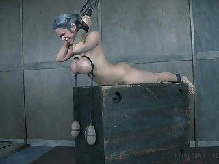 Bondage BDSM pangs amulet session be incumbent on busty MILF Alyssa Lynn