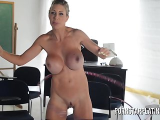 Very Busty ma porn produce lead on Puma Swede hula hooping naked