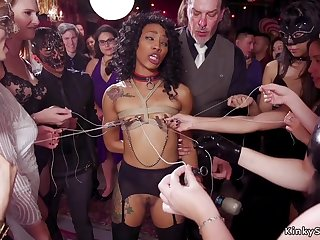 Sulky nipples tormented at bdsm party