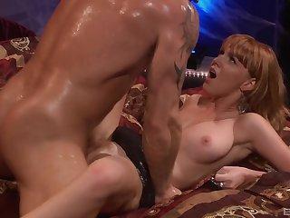 Milf loves the plain vanilla slide of her man's bushwa in her vag