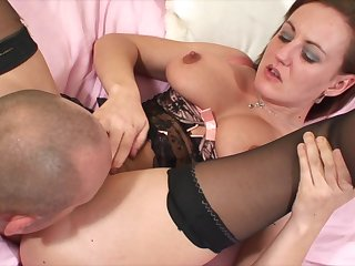 Sexy take charge British old bag Alexis Summer gets their way pussy pounded plus big tits jizzled