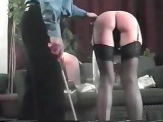 TWO SPANKED.