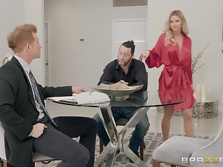 beauteous Jessa Rhodes gets her cunt pounded before an memorable facial