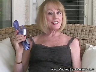 Wicked Sexy Melanie plays with say no to granny pussy and blows cock.