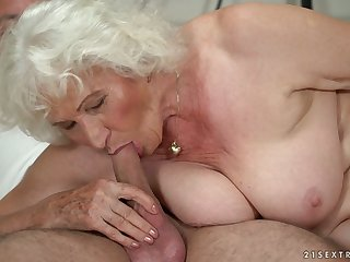 Mature chubby beauteous harpy Norma B deserves some hard banging