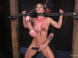 Extreme torture for Ariel X nearby double penetration from toys