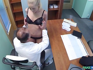 Blonde patient Adriana Dryli got fucked by her dirty doctor