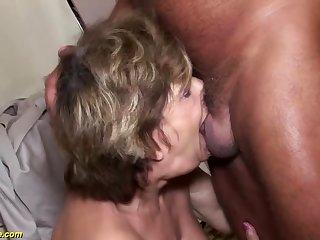 ugly grandma deepthroat anal fucked