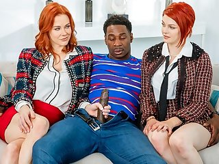 A Negro with a hunger added to insensible to cock Fucks in different poses redheads S...