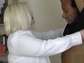 Doctor GILF with big tits impaled deep on hard black dick