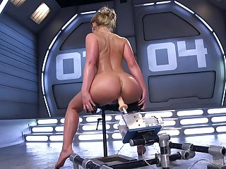 Premium unsubtle shows off her crooked skills with the making out machine