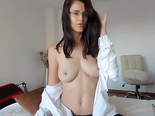 Inviting female masturbates beautifully