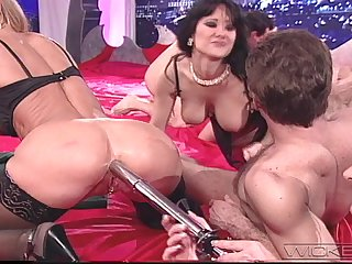 Unsparing group sex session alongside lot of stunning pornstars like Asia Carrera