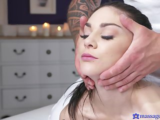 Massage on the table leads to fucking with attractive Lullu Gun