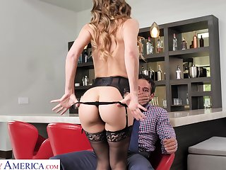 Sexy MILF gives into primal desires with the brush neighbor and she fucks idiotically