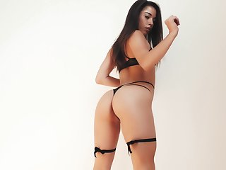 Young model Anastasia gets naked with an increment of shows her incomparable pussy
