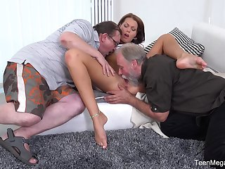 Old men market garden young pussy in crazy home troika