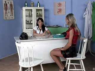 Kinky strapon fuck with regard to the clinic, featuring Lea Lexus added to Dominika