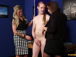 Dude with a long hair and a small learn of pleasured - Charlie and Lissa