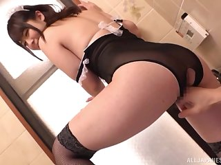 Amateur video of a naughty dude making out sexy maid Takarada Monami