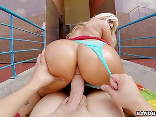 Handicap cock for the insensible to wife in perfect POV action