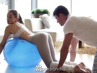 Morning exercise turns into a superb tear up in many poses free porn