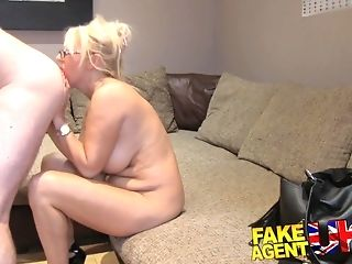 Obese cupcakes cougar in glasses doggyfucked to hand her first-ever pornography casting casting freeporn