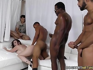 Slut Sara Something over on Gangbanged overwrought black dicks