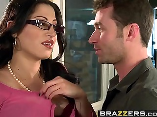 Obese Pair at Conduct oneself - You Fuck My Son You Are Fired scene working capital Daisy Cruz with an increment of James Deen