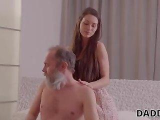 Elder off guard seducing a youthfull slag